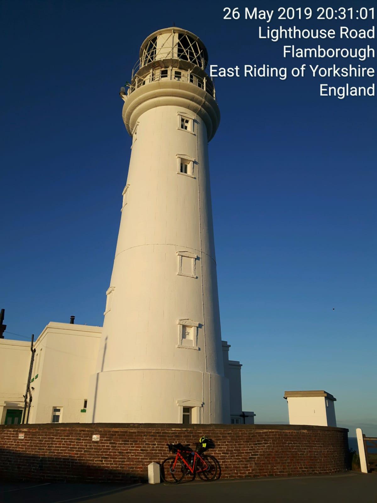 Philippa Battye at Flamborough Lighthouse
