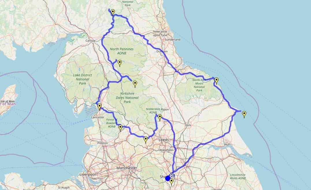 Pawel's route
