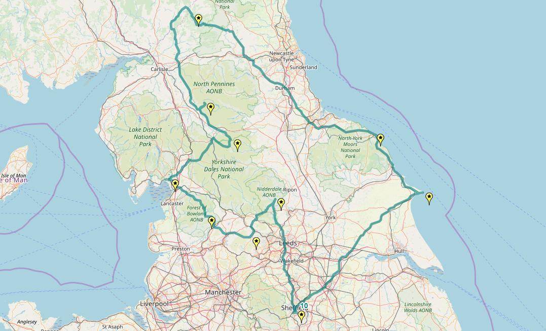 Route taken by #APNrider10