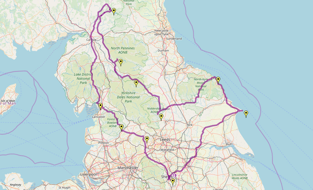 Route taken by #APNrider19