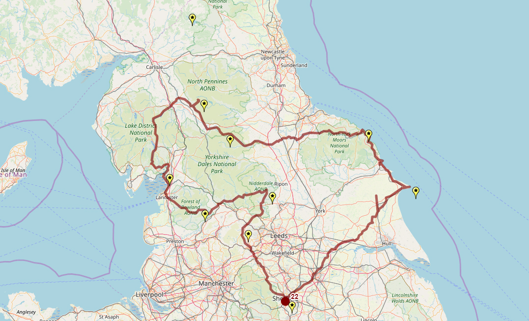 Route taken by #APNrider22