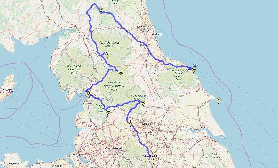 Route taken by #APNrider26