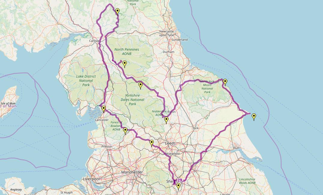 Route taken by #APNrider29