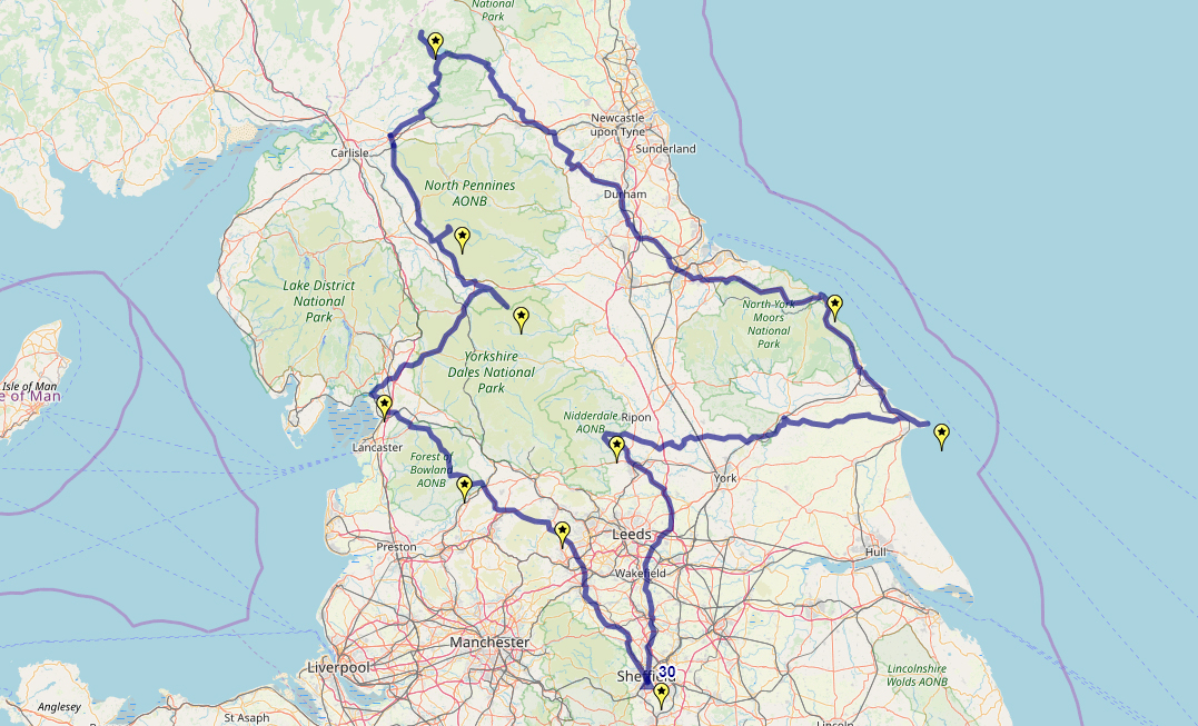 Route taken by #APNrider30