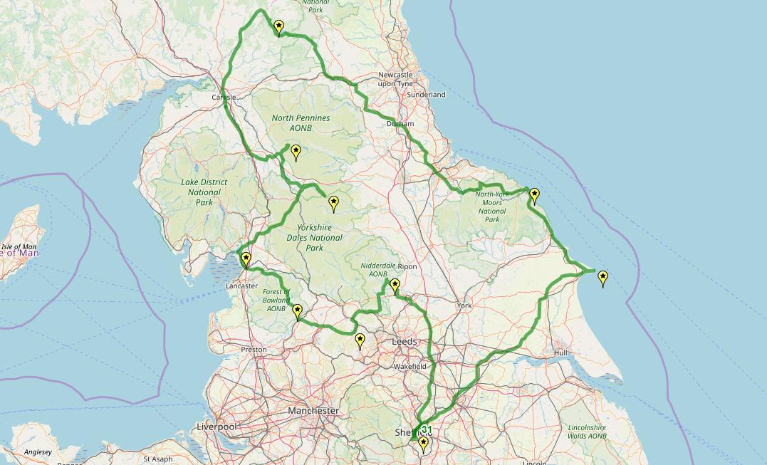 Route taken by #APNrider31
