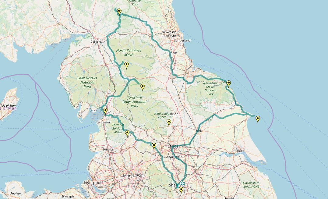Route taken by #APNrider33