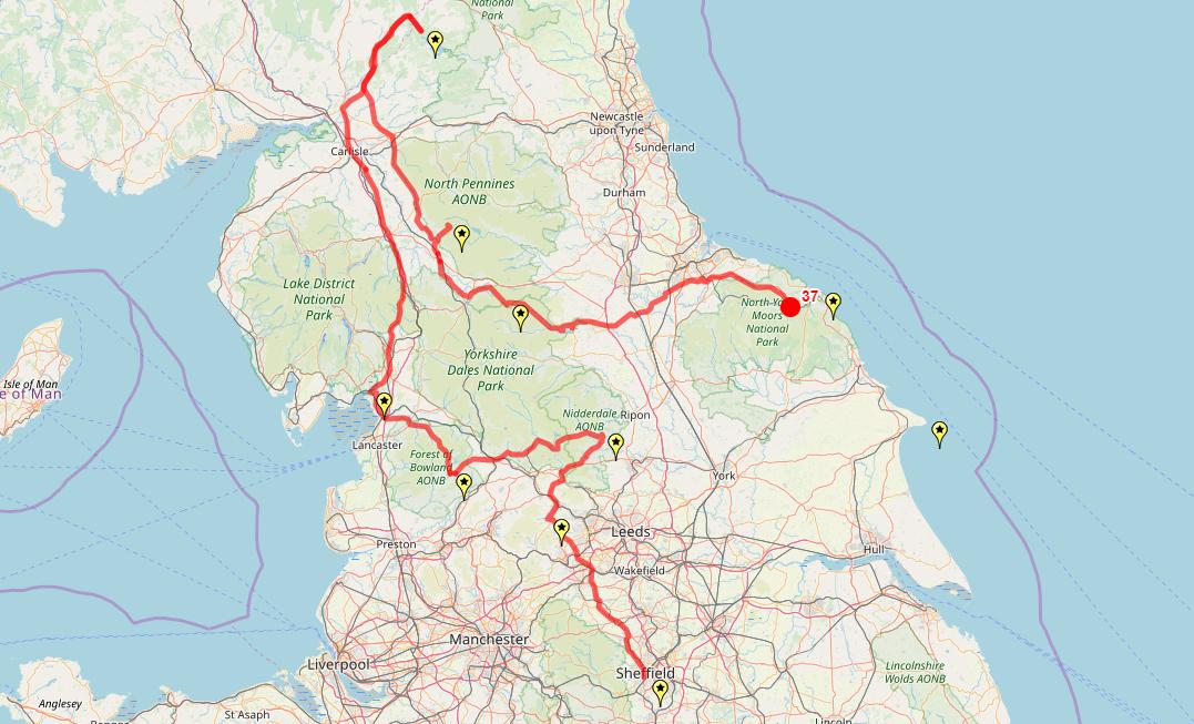 Route taken by #APNrider37