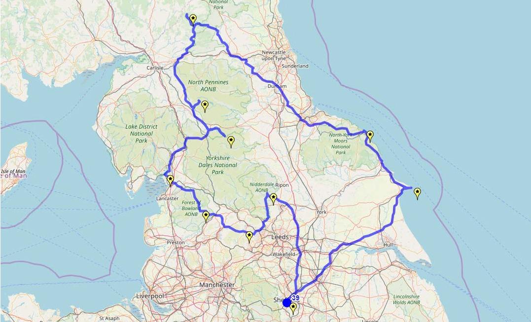 Route taken by #APNrider39