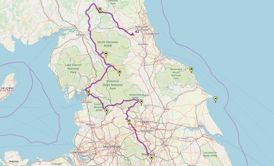 Route taken by #APNrider42