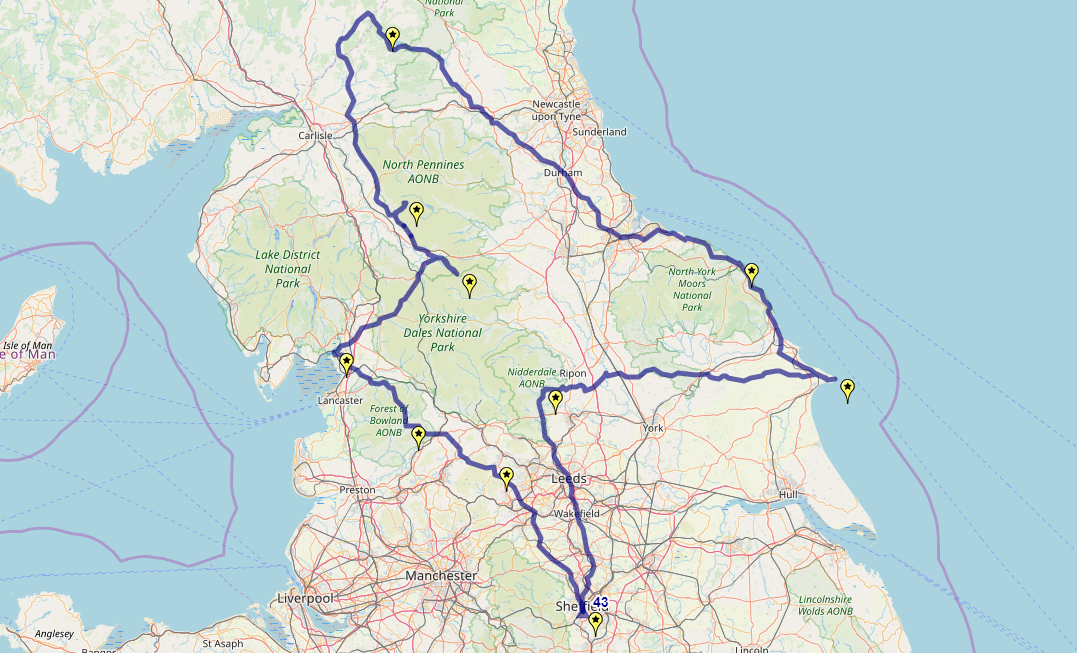 Route taken by #APNrider43