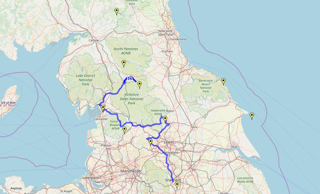 Route taken by #APNrider56
