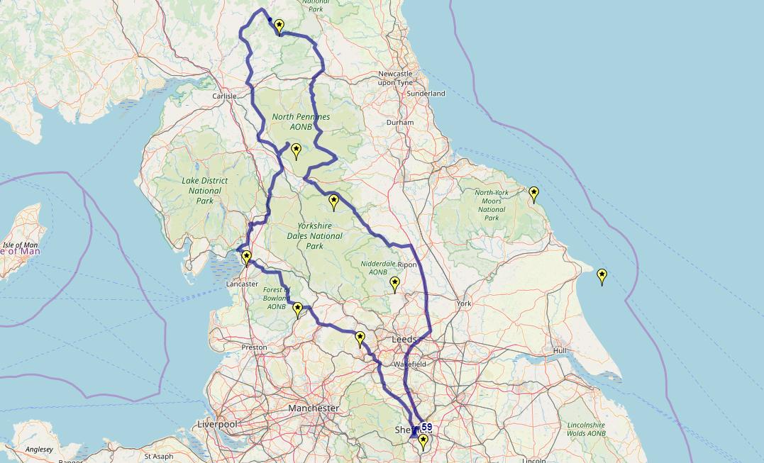 Route taken by #APNrider59