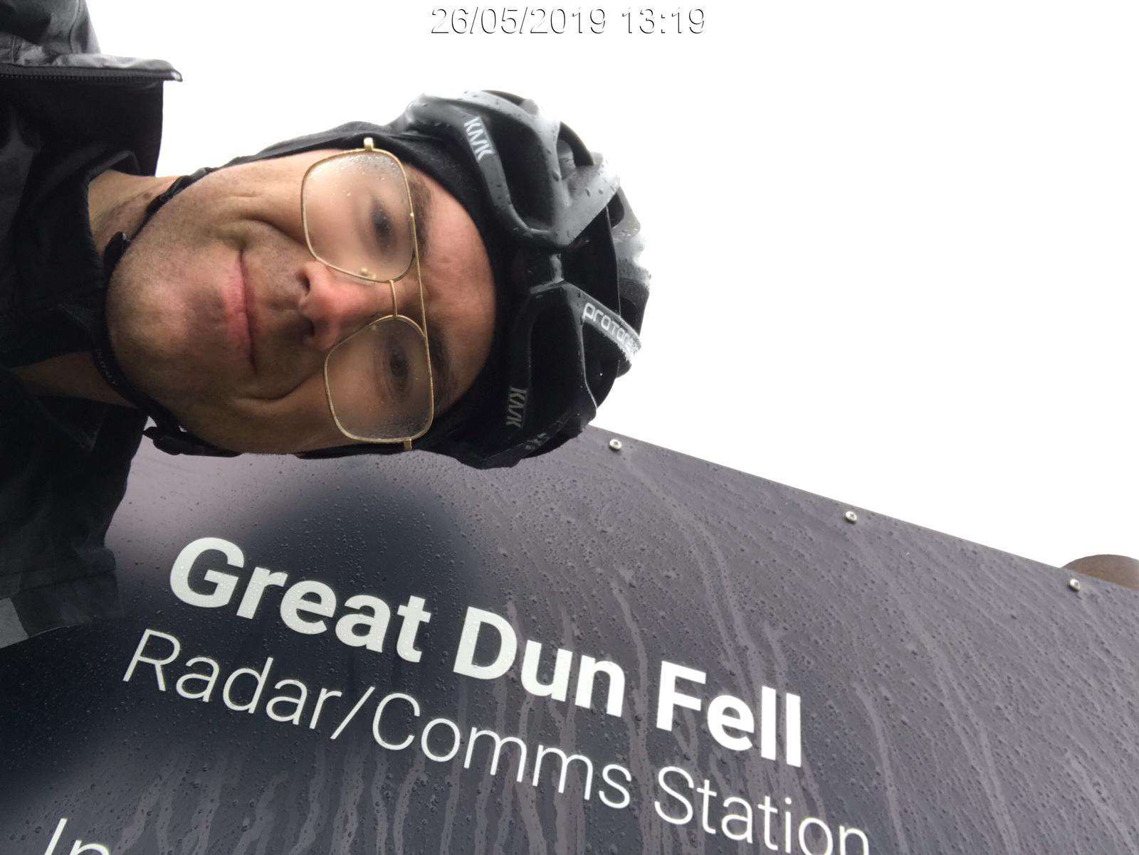 Tim McInnes at Great Dun Fell