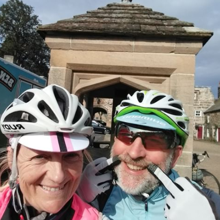 Julie and Simon Bullen at Blanchland