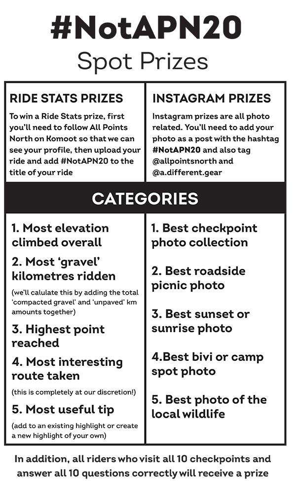 NAP Spot Prize Card