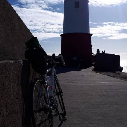 Norman Cooper at Berwick Pier