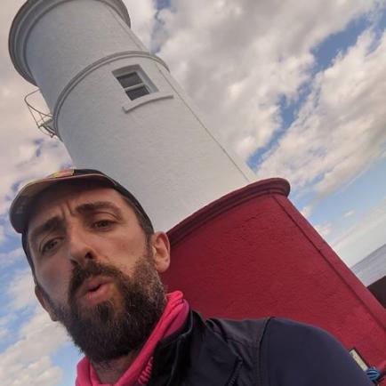 Tom Downes at Berwick Pier