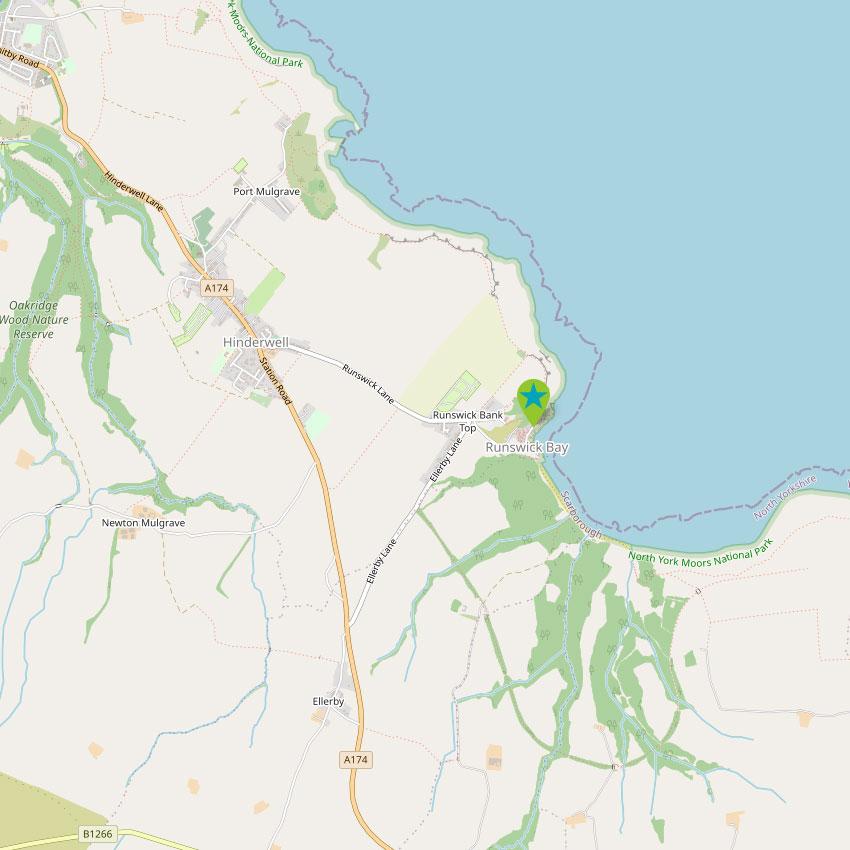 Runswick Bay - control map 2