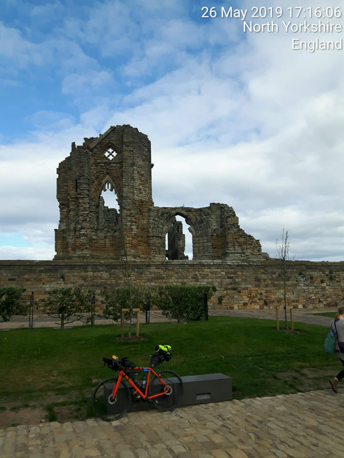 Philippa Battye at Whitby Abbey
