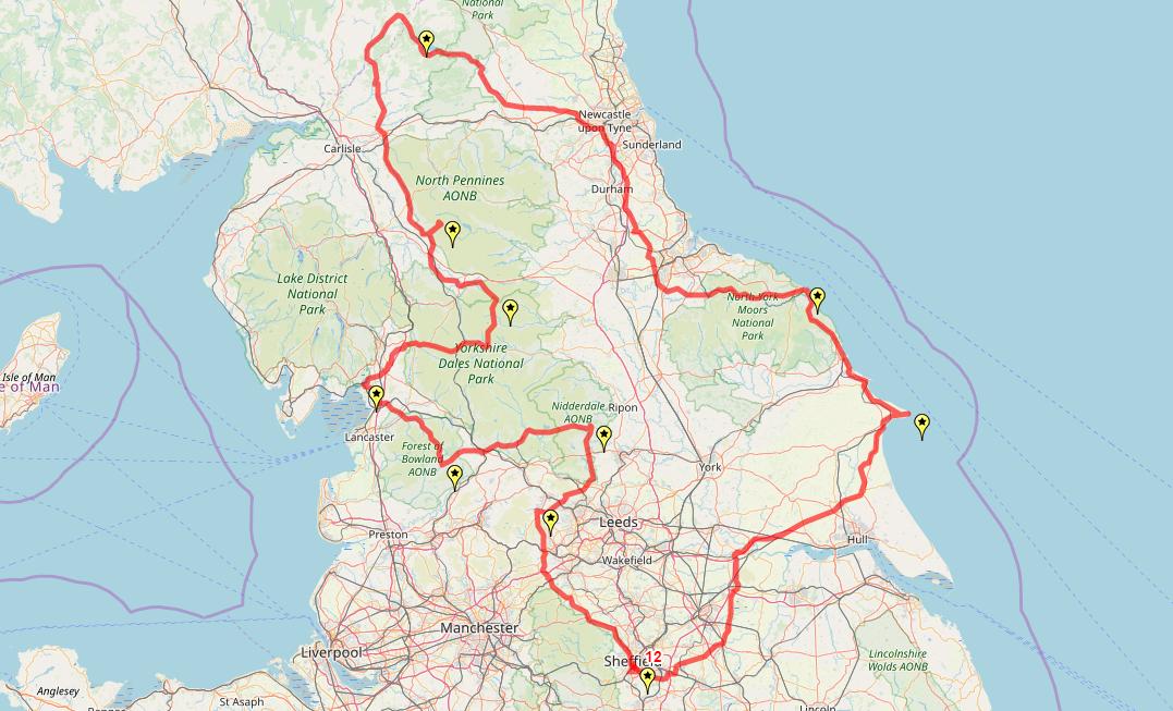 Route taken by #APNrider12