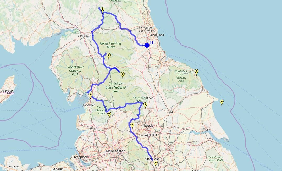 Route taken by #APNrider15