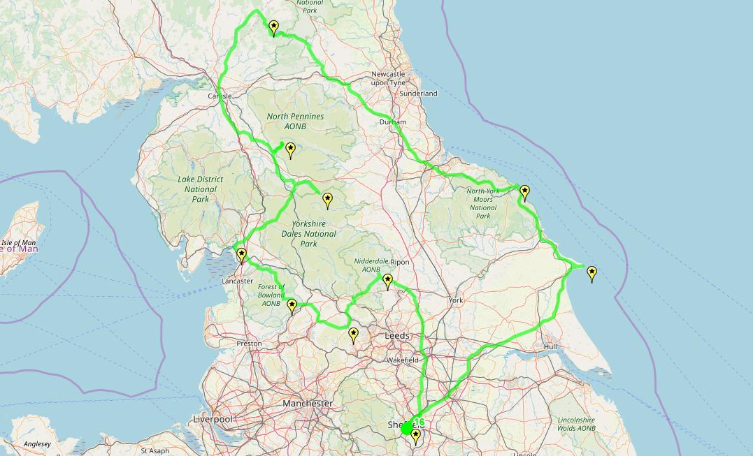 Route taken by #APNrider16