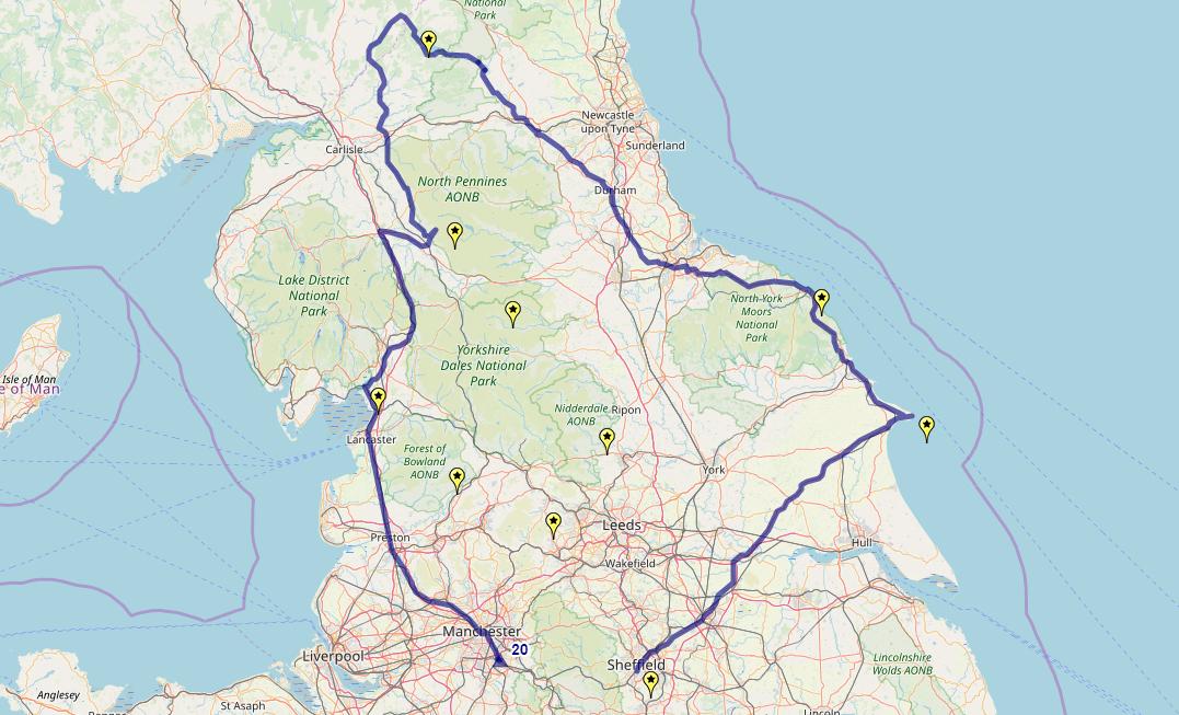 Route taken by #APNrider20