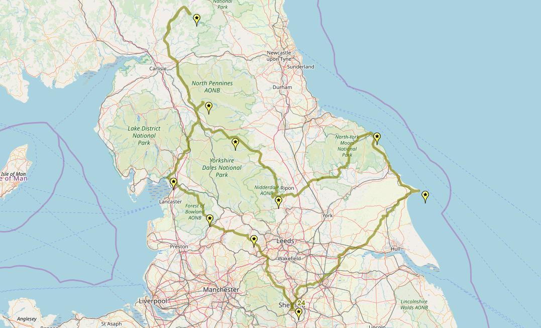Route taken by #APNrider24