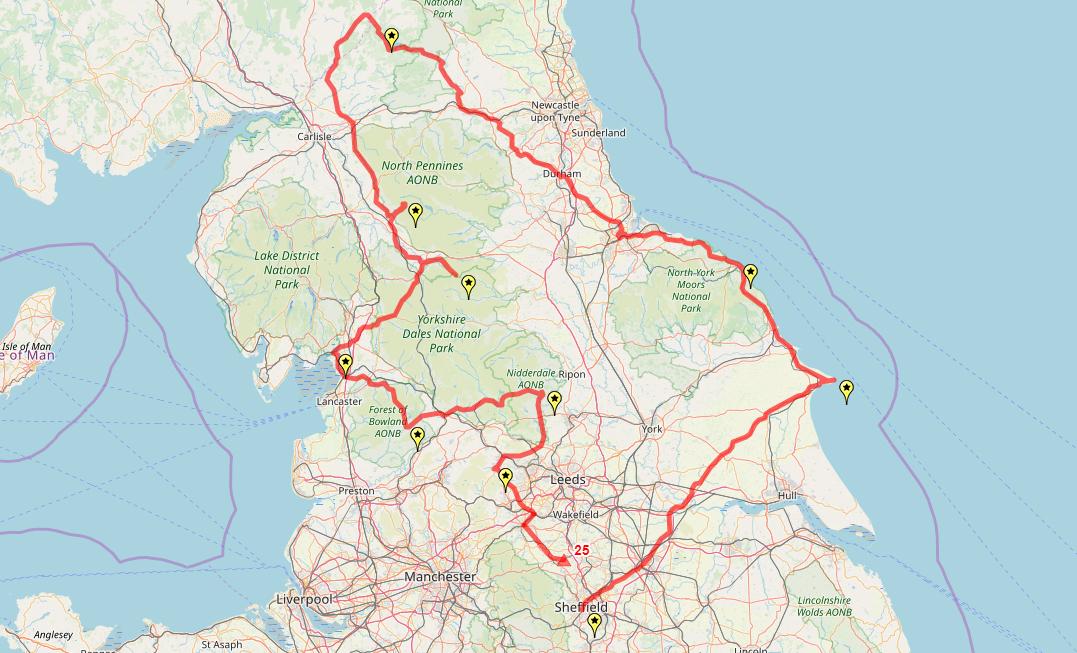 Route taken by #APNrider25