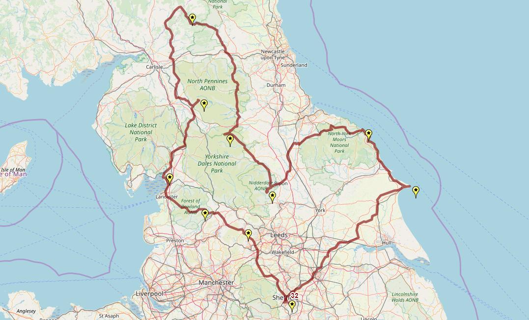 Route taken by #APNrider32
