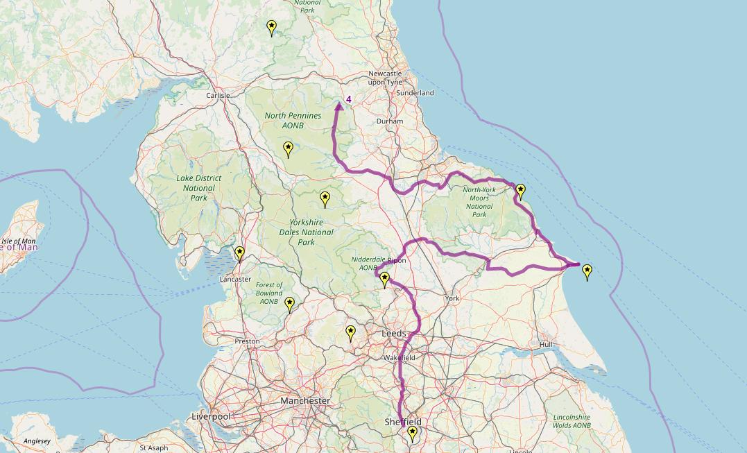 Route taken by #APNrider04