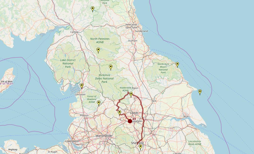 Route taken by #APNrider49
