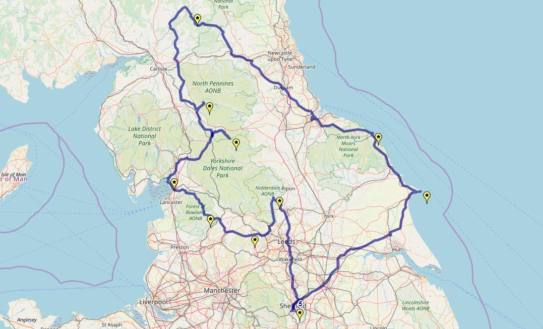 Route taken by #APNrider05
