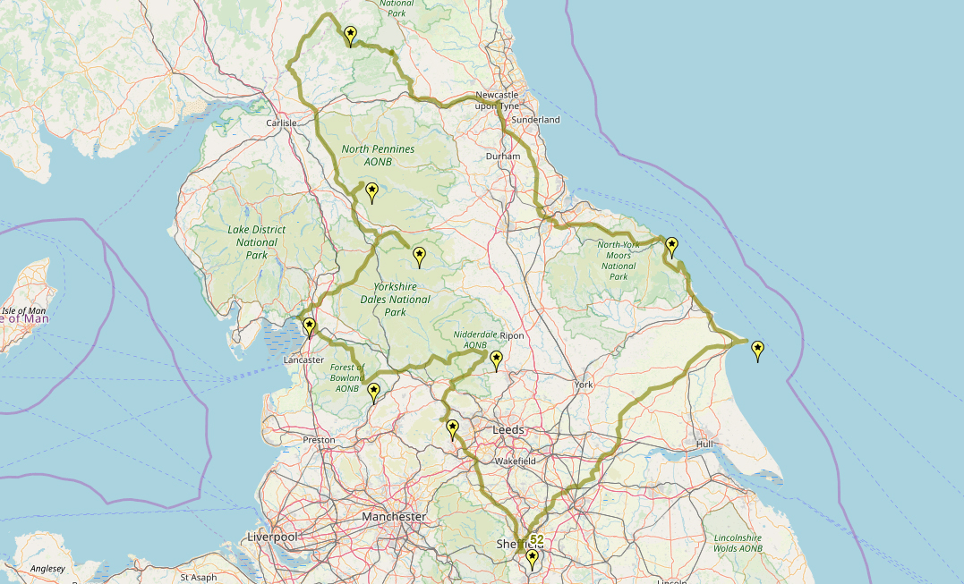 Route taken by #APNrider52