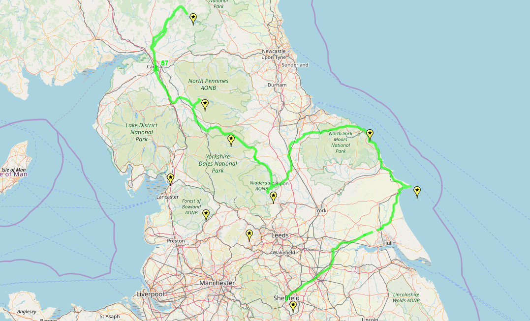 Route taken by #APNrider57