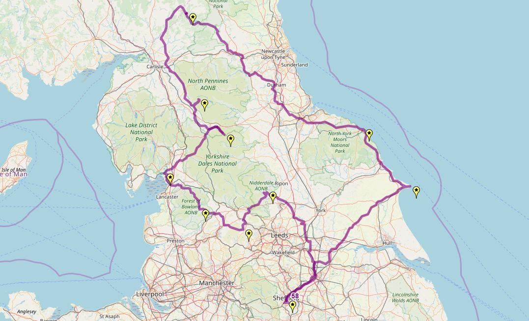 Route taken by #APNrider58