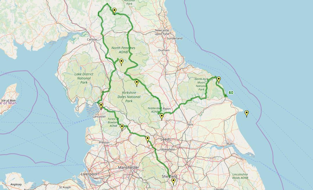 Route taken by #APNrider60