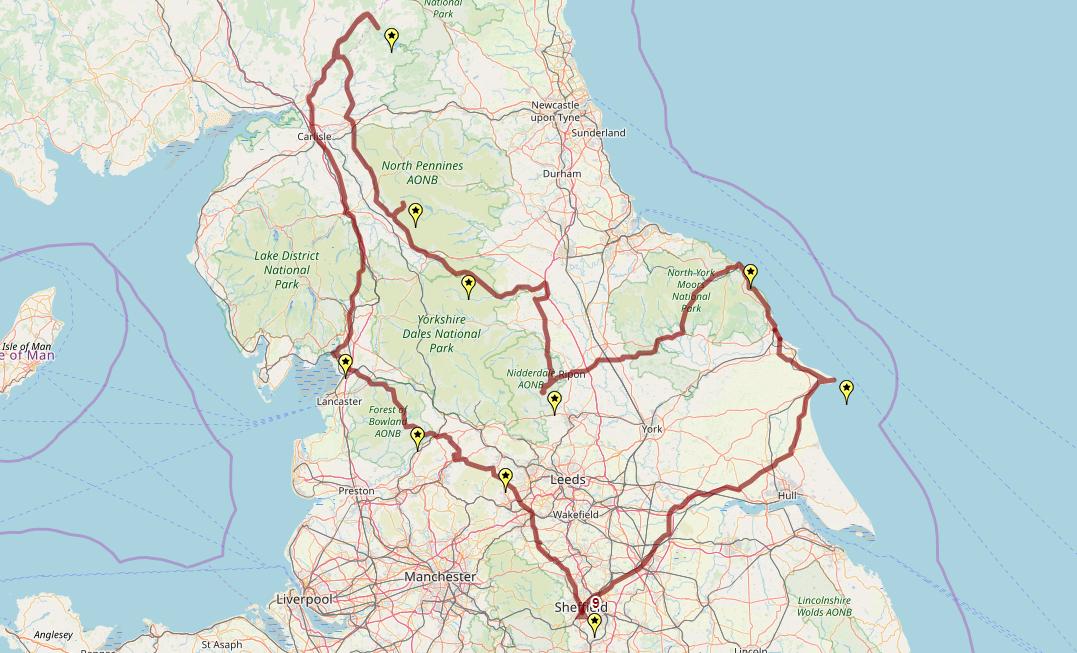 Route taken by #APNrider09