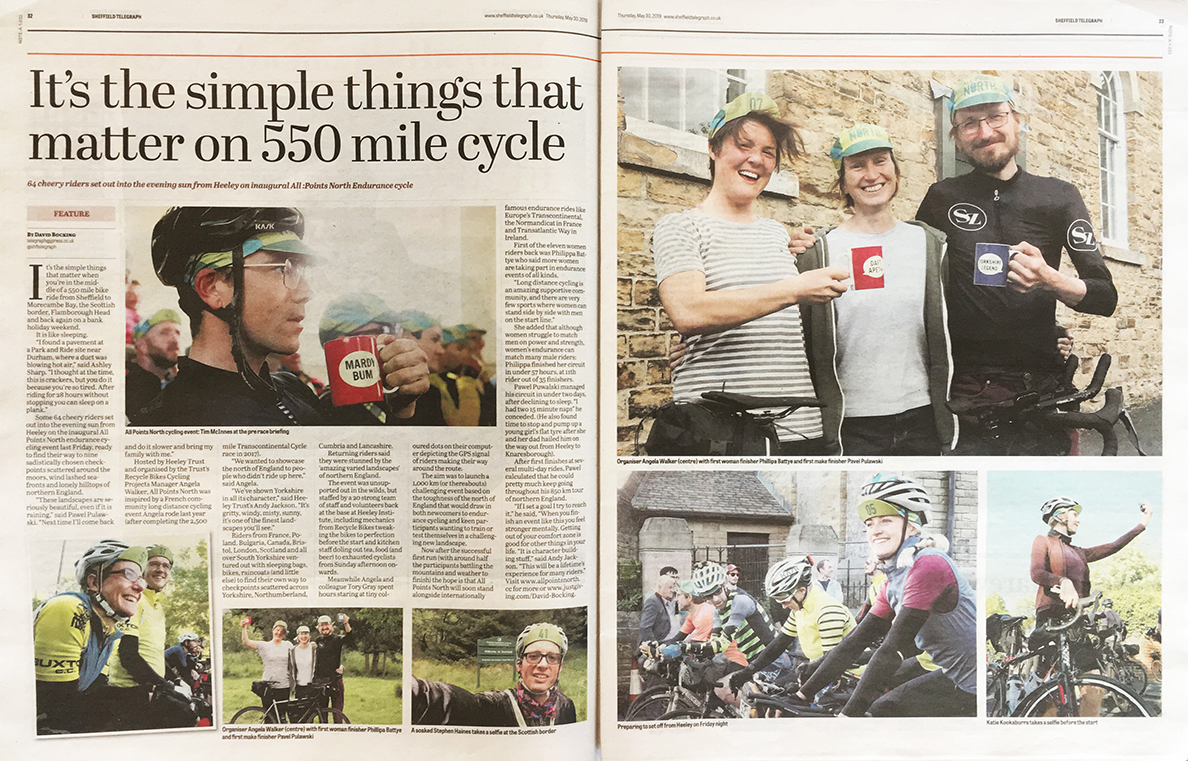 Sheffield Telegraph 30 May 2019 - article on All Points North