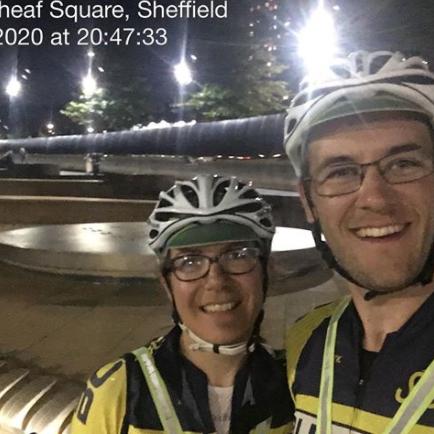 Rachel Batt and Jim Stewart at Sheaf Square