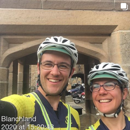 Rachel Batt and Jim Stewart at Blanchland