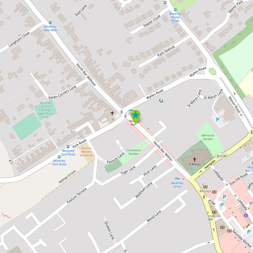 Beverley North Bar - control map 1