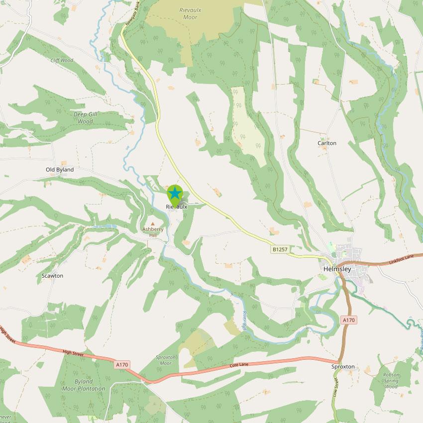 Rievaulx - control map 2
