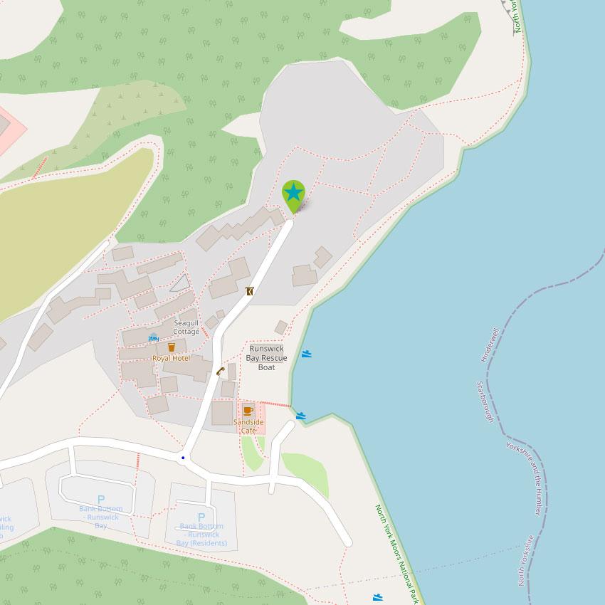 Runswick Bay - control map 1